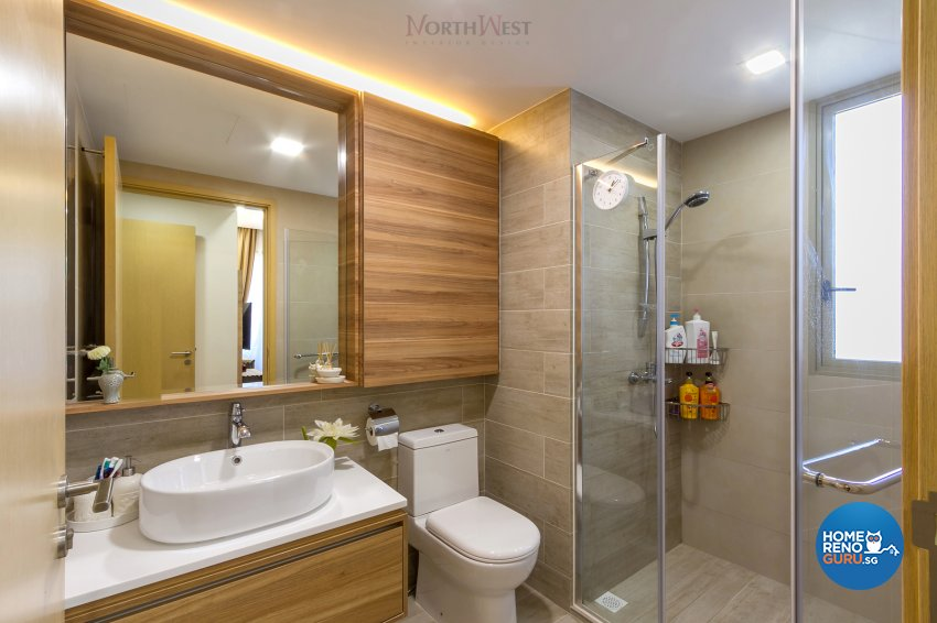 Contemporary, Eclectic Design - Bathroom - Condominium - Design by NorthWest Interior Design Pte Ltd