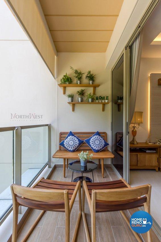 Contemporary, Eclectic Design - Balcony - Condominium - Design by NorthWest Interior Design Pte Ltd