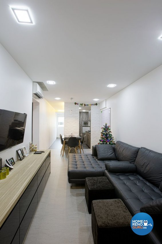 Contemporary, Minimalist Design - Living Room - HDB 3 Room - Design by NorthWest Interior Design Pte Ltd
