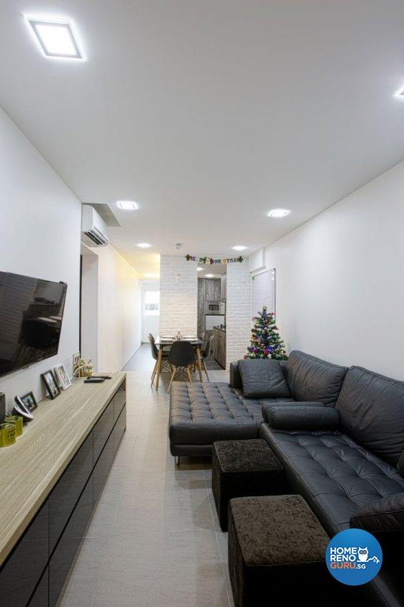Contemporary, Minimalist Design - Living Room - HDB 3 Room - Design by NorthWest Interior Design Pte Ltd