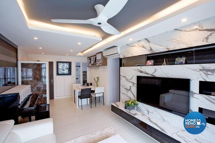 Contemporary, Modern Design - Living Room - HDB 4 Room - Design by NorthWest Interior Design Pte Ltd