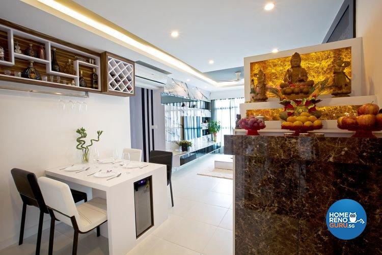 Contemporary, Modern Design - Dining Room - HDB 4 Room - Design by NorthWest Interior Design Pte Ltd