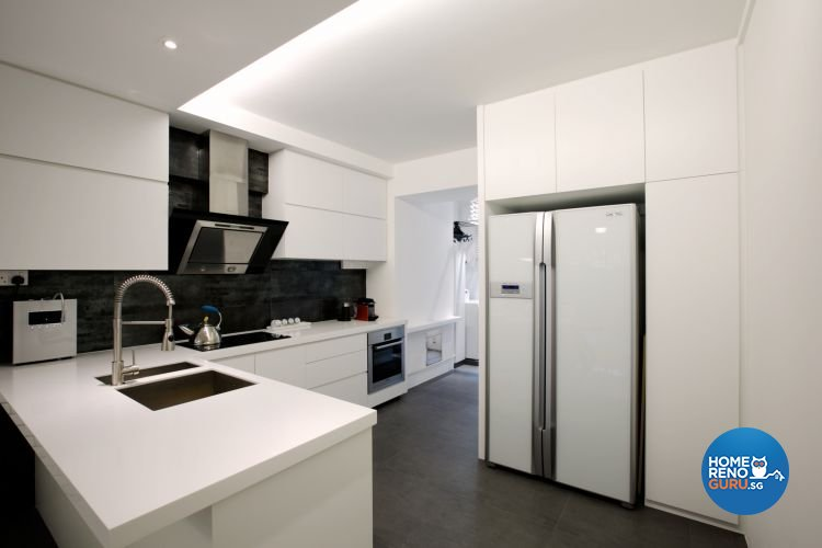 Contemporary, Country Design - Kitchen - HDB 4 Room - Design by NorthWest Interior Design Pte Ltd