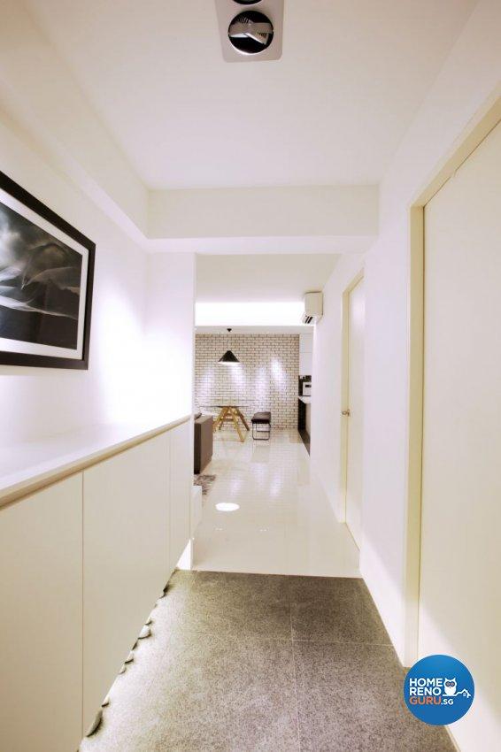 Contemporary, Country Design - Balcony - HDB 4 Room - Design by NorthWest Interior Design Pte Ltd