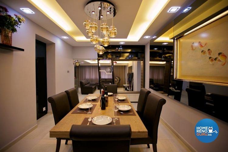 Contemporary, Modern Design - Dining Room - Condominium - Design by NorthWest Interior Design Pte Ltd