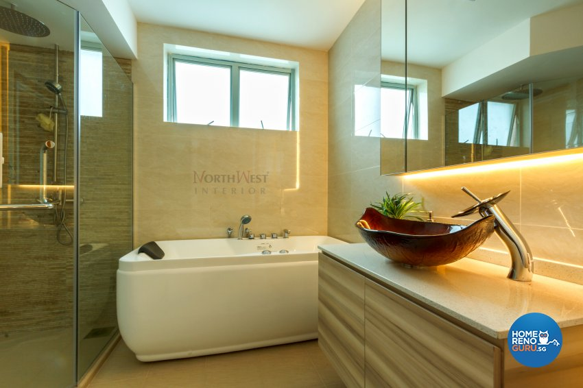 Contemporary, Rustic Design - Bathroom - Condominium - Design by NorthWest Interior Design Pte Ltd
