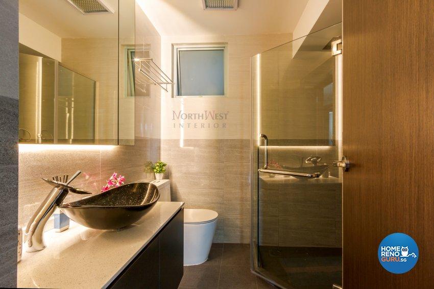 Contemporary, Rustic Design - Bathroom - Condominium - Design by NorthWest Interior Design Pte Ltd