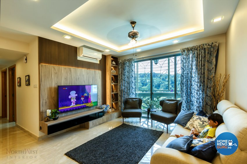 Contemporary, Rustic Design - Living Room - Condominium - Design by NorthWest Interior Design Pte Ltd
