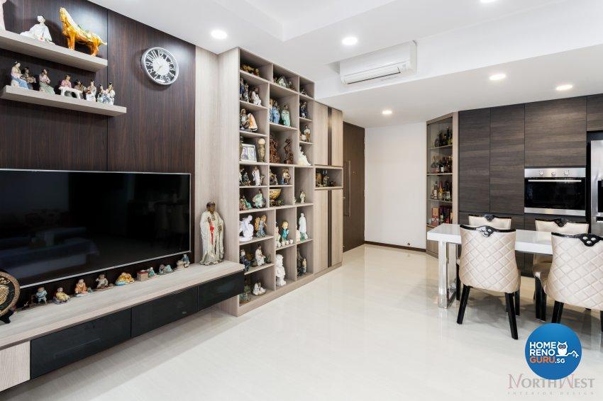 Contemporary, Minimalist Design - Living Room - Condominium - Design by NorthWest Interior Design Pte Ltd