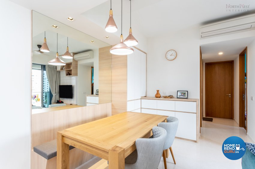 Contemporary, Scandinavian Design - Dining Room - Condominium - Design by NorthWest Interior Design Pte Ltd
