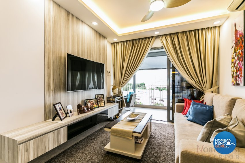 Contemporary Design - Living Room - Condominium - Design by NorthWest Interior Design Pte Ltd