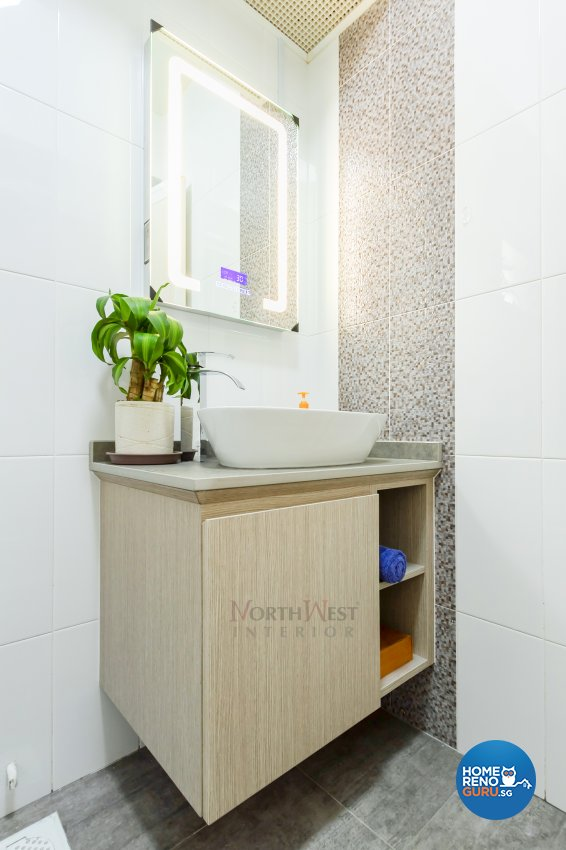 Contemporary, Minimalist Design - Bathroom - Condominium - Design by NorthWest Interior Design Pte Ltd