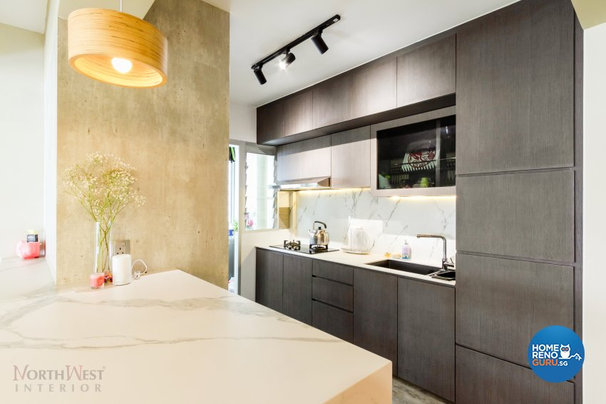 Contemporary, Minimalist Design - Kitchen - Condominium - Design by NorthWest Interior Design Pte Ltd
