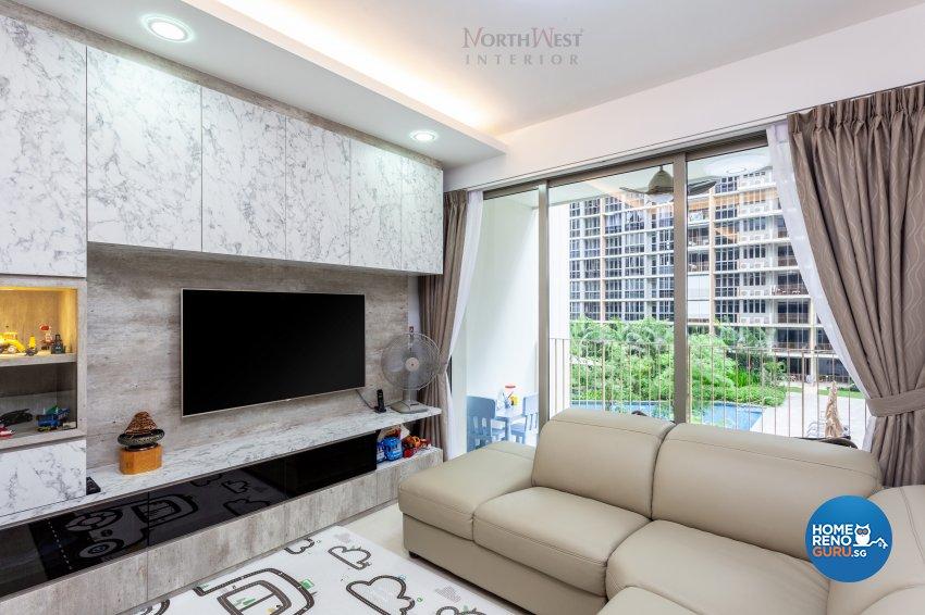 Contemporary Design - Living Room - Condominium - Design by NorthWest Interior Design Pte Ltd