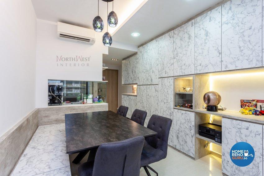 Contemporary Design - Dining Room - Condominium - Design by NorthWest Interior Design Pte Ltd