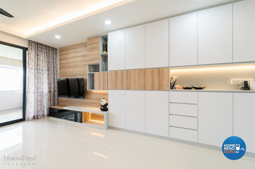 Contemporary, Minimalist, Modern Design - Living Room - Condominium - Design by NorthWest Interior Design Pte Ltd