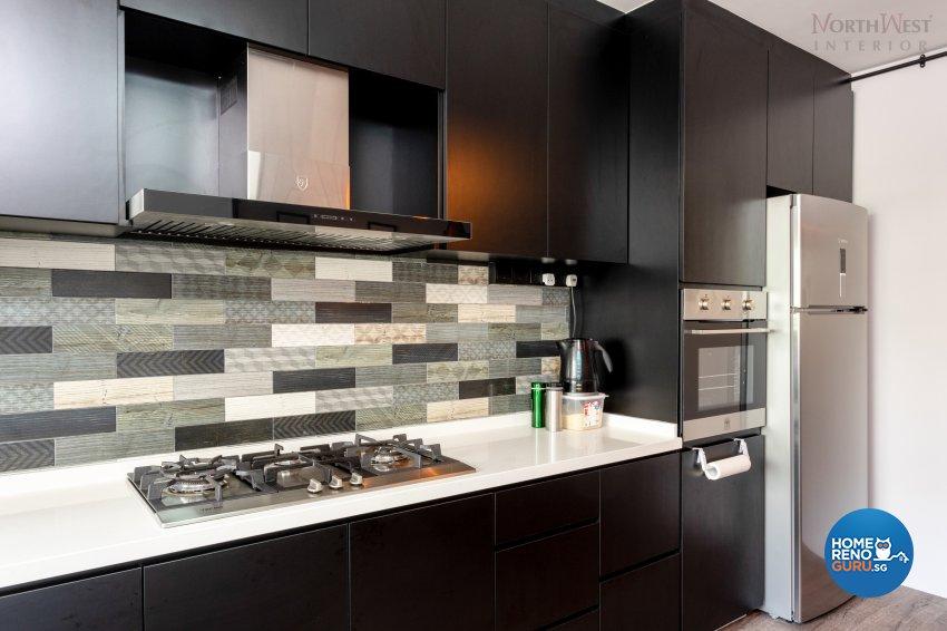 Industrial Design - Kitchen - HDB 3 Room - Design by NorthWest Interior Design Pte Ltd