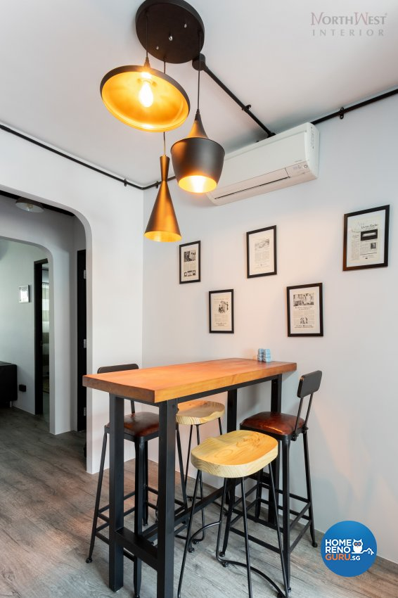 Industrial Design - Dining Room - HDB 3 Room - Design by NorthWest Interior Design Pte Ltd