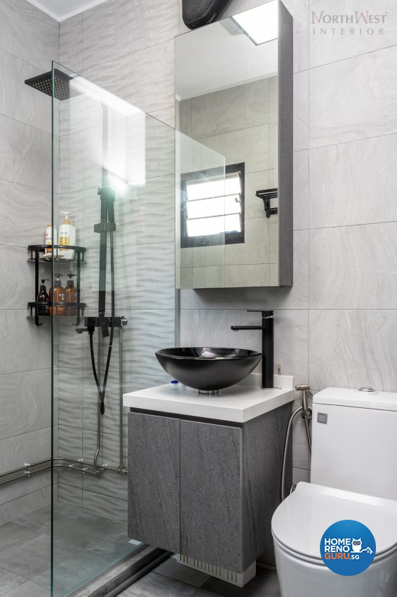 Industrial Design - Bathroom - HDB 3 Room - Design by NorthWest Interior Design Pte Ltd