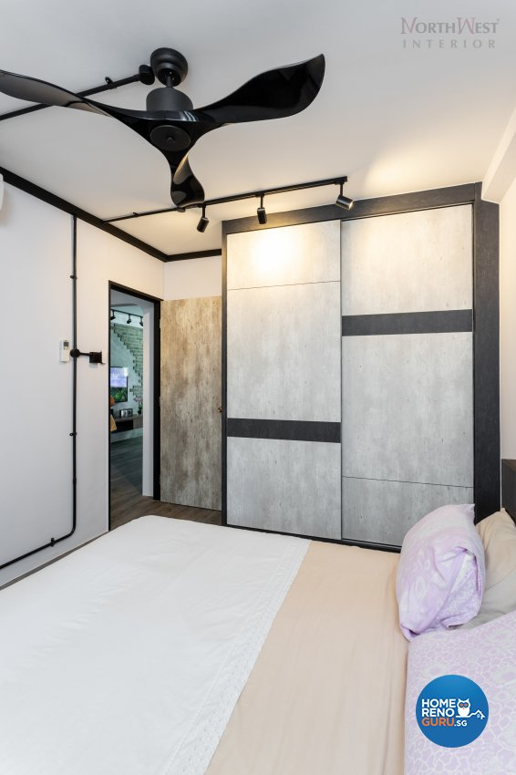 Industrial Design - Bedroom - HDB 3 Room - Design by NorthWest Interior Design Pte Ltd