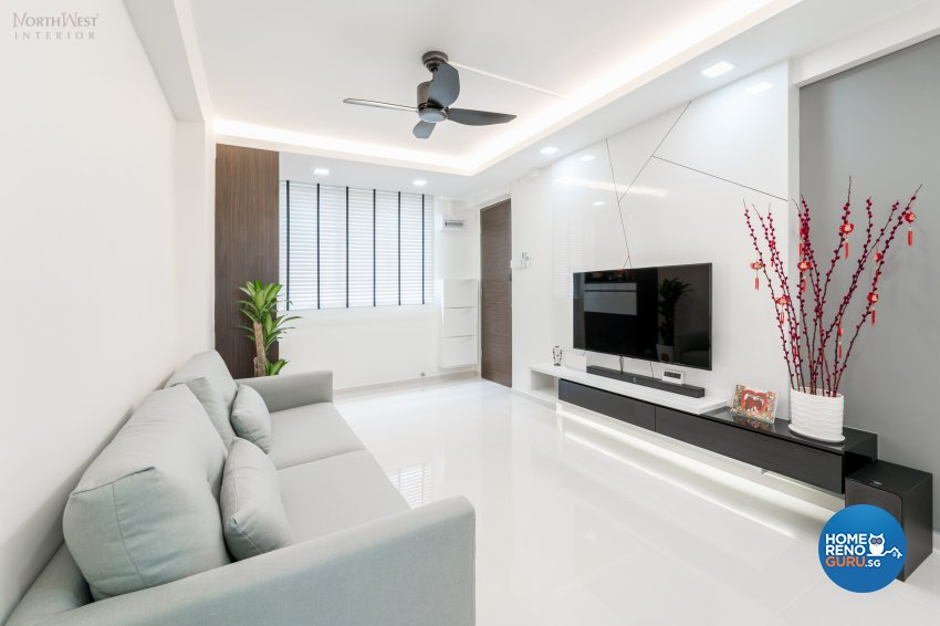 Contemporary, Minimalist, Modern Design - Living Room - HDB 3 Room - Design by NorthWest Interior Design Pte Ltd