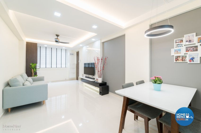 Contemporary, Minimalist, Modern Design - Dining Room - HDB 3 Room - Design by NorthWest Interior Design Pte Ltd