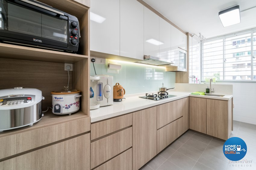 Contemporary, Minimalist, Modern Design - Kitchen - HDB 3 Room - Design by NorthWest Interior Design Pte Ltd
