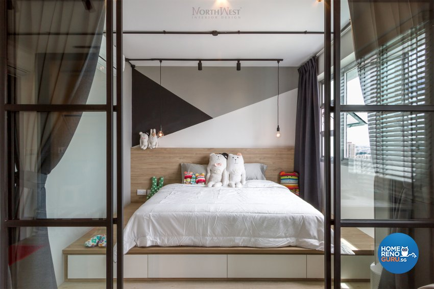 Industrial, Rustic Design - Bedroom - HDB 3 Room - Design by NorthWest Interior Design Pte Ltd