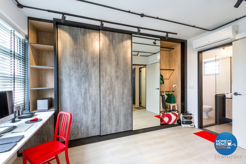 Industrial, Rustic Design - Study Room - HDB 3 Room - Design by NorthWest Interior Design Pte Ltd