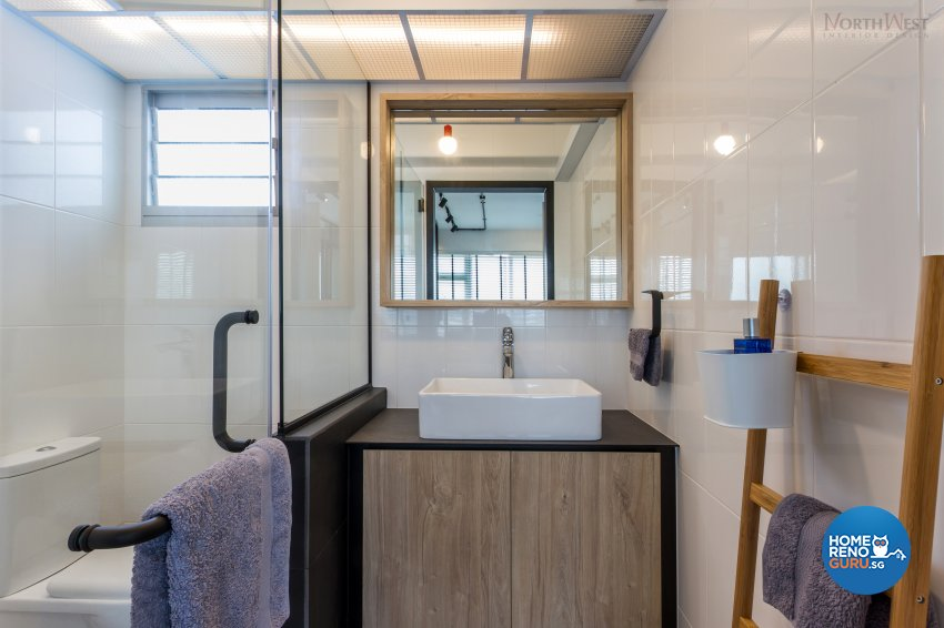 Industrial, Rustic Design - Bathroom - HDB 3 Room - Design by NorthWest Interior Design Pte Ltd