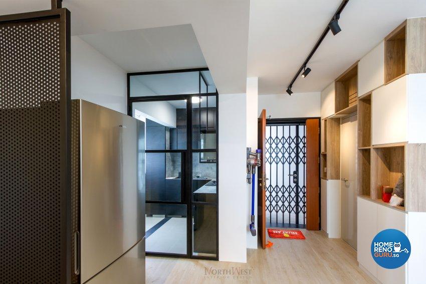Industrial, Rustic Design - Living Room - HDB 3 Room - Design by NorthWest Interior Design Pte Ltd