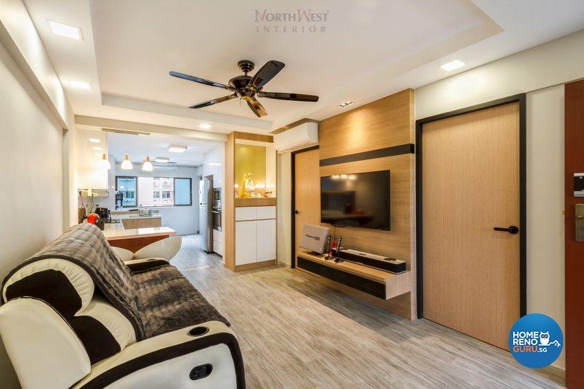 Contemporary Design - Living Room - HDB 3 Room - Design by NorthWest Interior Design Pte Ltd