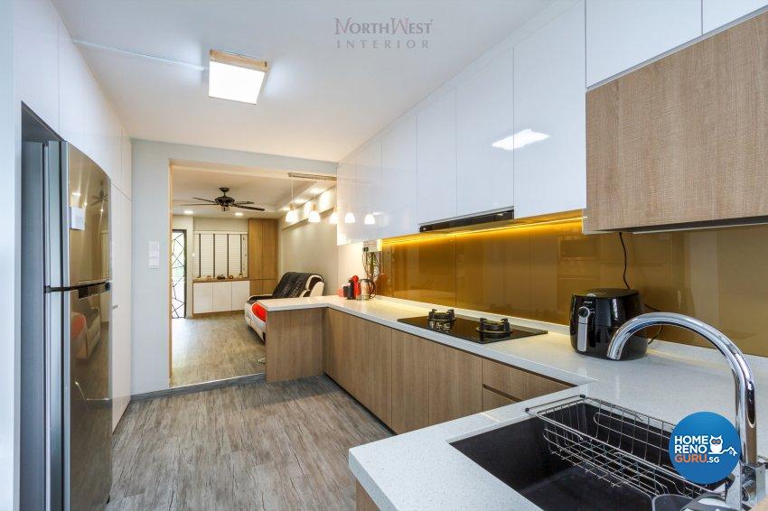 Contemporary Design - Kitchen - HDB 3 Room - Design by NorthWest Interior Design Pte Ltd