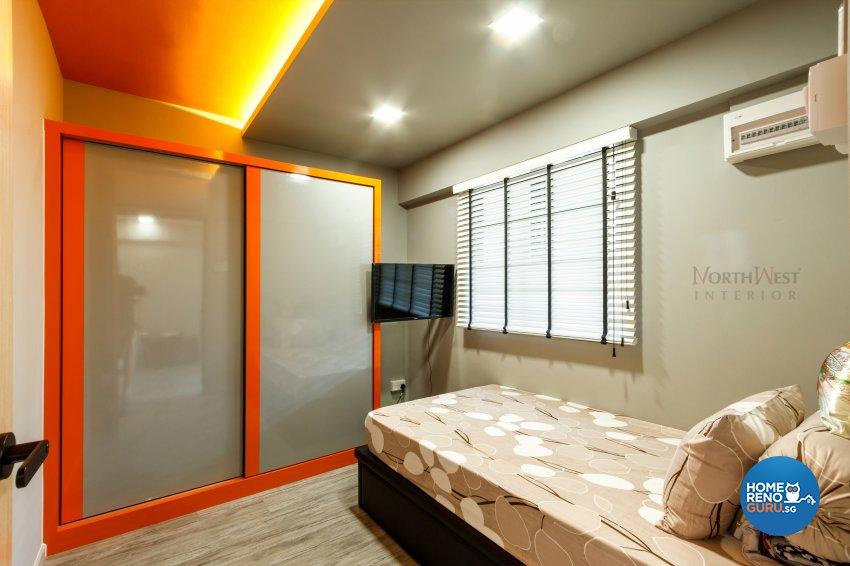 Contemporary Design - Bedroom - HDB 3 Room - Design by NorthWest Interior Design Pte Ltd
