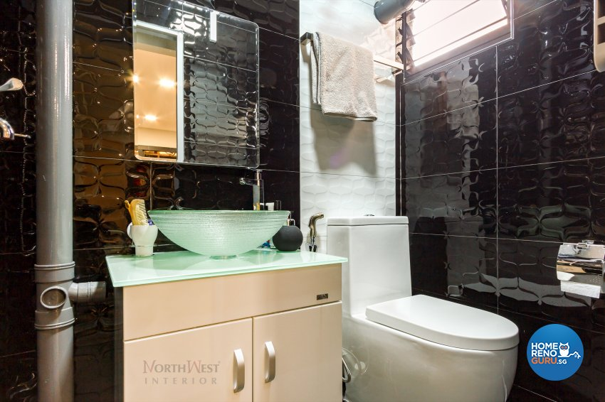 Contemporary Design - Bathroom - HDB 3 Room - Design by NorthWest Interior Design Pte Ltd