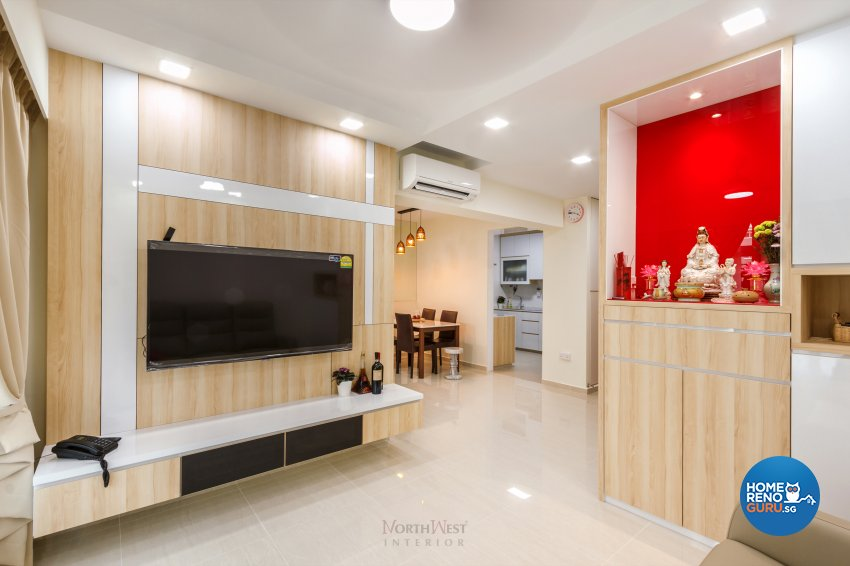 Contemporary Design - Living Room - HDB 4 Room - Design by NorthWest Interior Design Pte Ltd