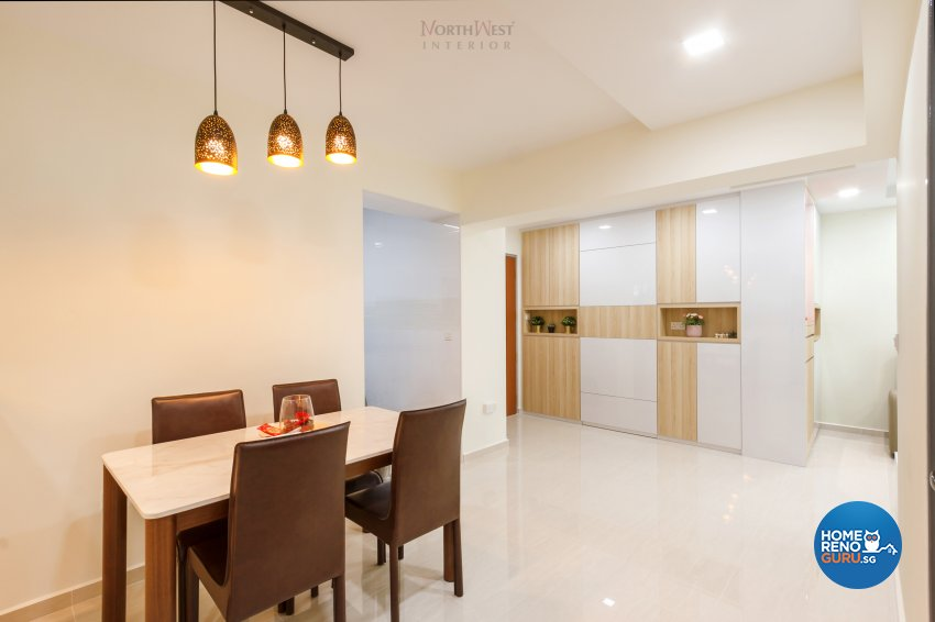 Contemporary Design - Dining Room - HDB 4 Room - Design by NorthWest Interior Design Pte Ltd