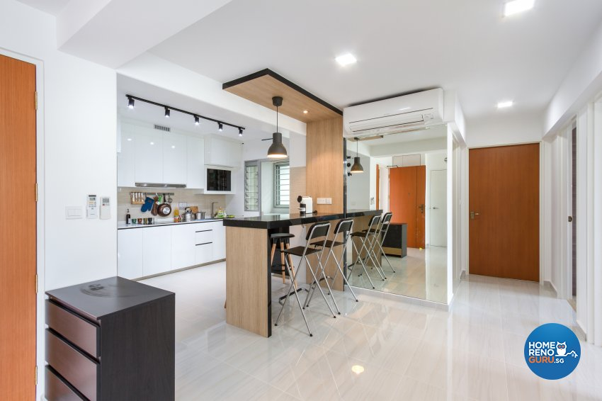 Contemporary, Minimalist, Modern Design - Kitchen - HDB 4 Room - Design by NorthWest Interior Design Pte Ltd