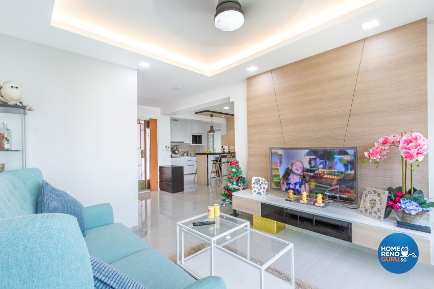 Contemporary, Minimalist, Modern Design - Living Room - HDB 4 Room - Design by NorthWest Interior Design Pte Ltd