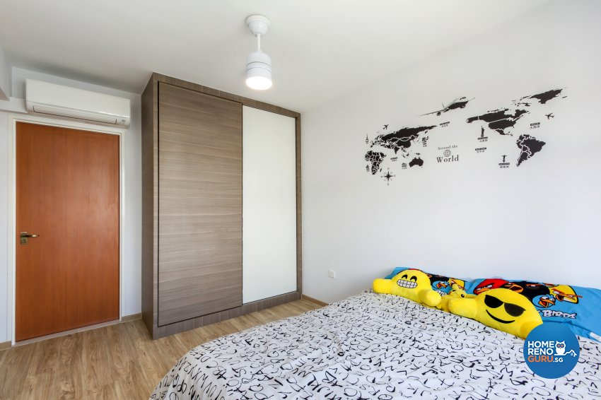 Contemporary, Minimalist, Modern Design - Bedroom - HDB 4 Room - Design by NorthWest Interior Design Pte Ltd