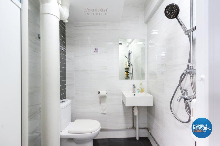 Contemporary Design - Bathroom - HDB 4 Room - Design by NorthWest Interior Design Pte Ltd