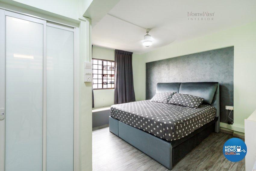 Contemporary Design - Bedroom - HDB 4 Room - Design by NorthWest Interior Design Pte Ltd