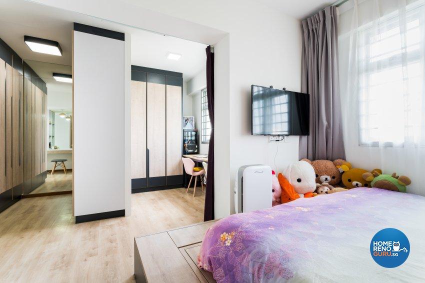 Contemporary, Minimalist Design - Bedroom - HDB 4 Room - Design by NorthWest Interior Design Pte Ltd