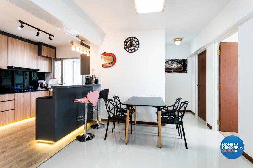 Contemporary, Minimalist Design - Dining Room - HDB 4 Room - Design by NorthWest Interior Design Pte Ltd