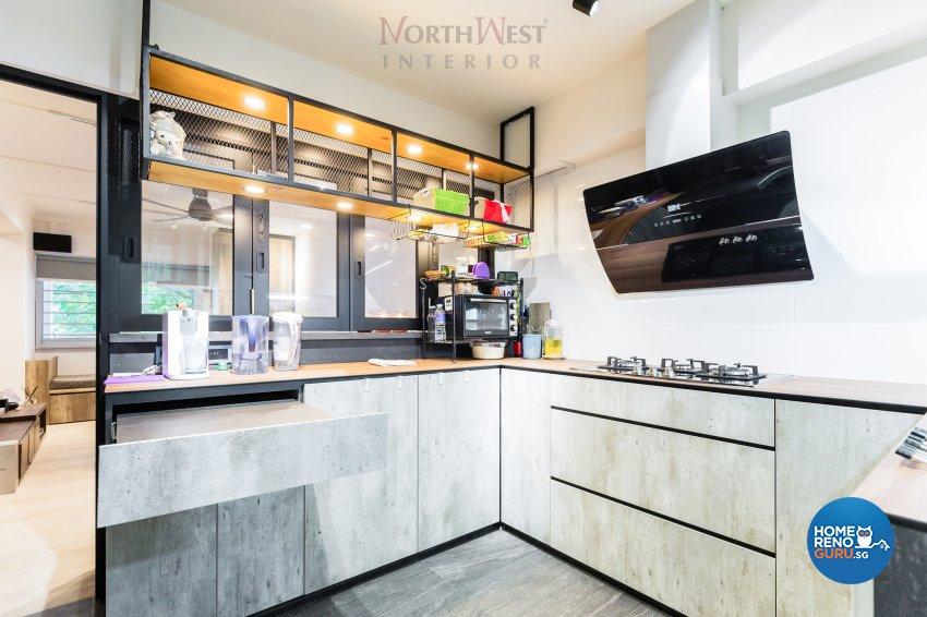 Contemporary, Industrial Design - Kitchen - HDB 4 Room - Design by NorthWest Interior Design Pte Ltd