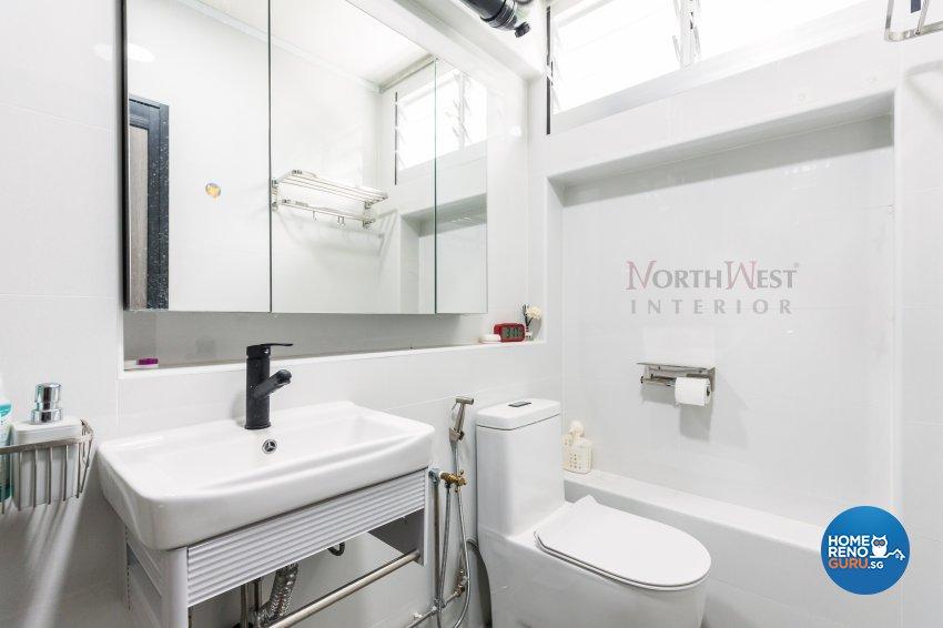 Contemporary, Industrial Design - Bathroom - HDB 4 Room - Design by NorthWest Interior Design Pte Ltd