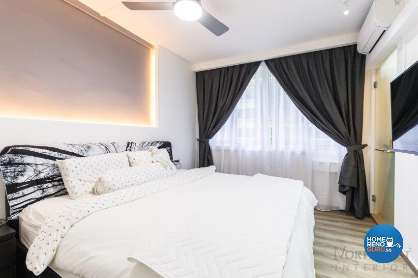 Contemporary, Industrial Design - Bedroom - HDB 4 Room - Design by NorthWest Interior Design Pte Ltd