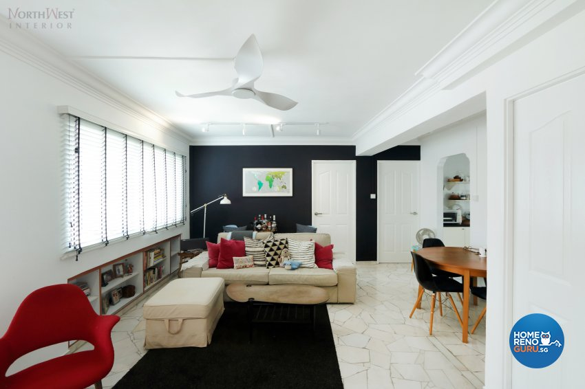 Contemporary, Scandinavian Design - Living Room - HDB 4 Room - Design by NorthWest Interior Design Pte Ltd