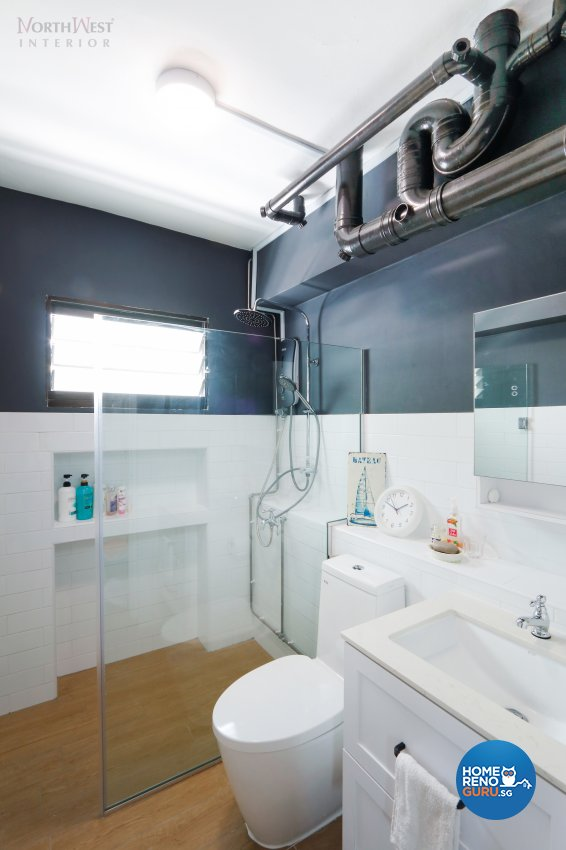 Contemporary, Scandinavian Design - Bathroom - HDB 4 Room - Design by NorthWest Interior Design Pte Ltd