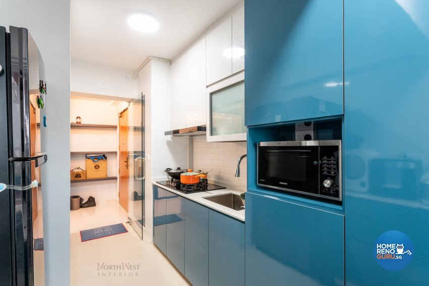 Contemporary Design - Kitchen - HDB 4 Room - Design by NorthWest Interior Design Pte Ltd